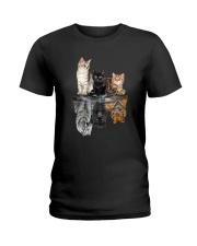 Cats Dreaming Ladies T-Shirt thumbnail