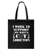 Cat Addiction Tote Bag thumbnail