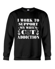 Cat Addiction Crewneck Sweatshirt thumbnail