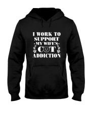 Cat Addiction Hooded Sweatshirt thumbnail
