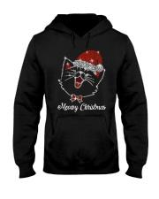 Meowy Christmas Hooded Sweatshirt thumbnail