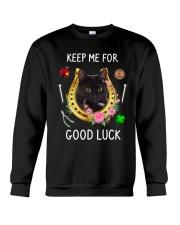 Black Cat Good Luck Crewneck Sweatshirt front