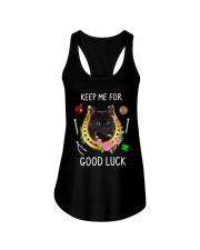 Black Cat Good Luck Ladies Flowy Tank thumbnail