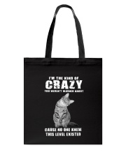 Crazy Cat Tote Bag thumbnail
