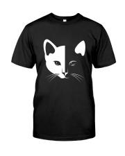 Cat half face 2508 Classic T-Shirt front