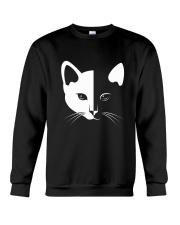 Cat half face 2508 Crewneck Sweatshirt thumbnail