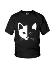 Cat half face 2508 Youth T-Shirt thumbnail