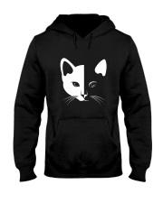 Cat half face 2508 Hooded Sweatshirt thumbnail