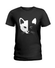 Cat half face 2508 Ladies T-Shirt thumbnail