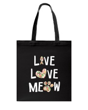 Live love meow Tote Bag thumbnail