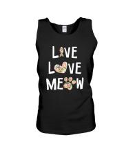 Live love meow Unisex Tank thumbnail