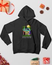 Black cat dreamer 0712 Hooded Sweatshirt lifestyle-holiday-hoodie-front-2