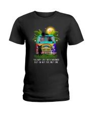Black cat dreamer 0712 Ladies T-Shirt thumbnail