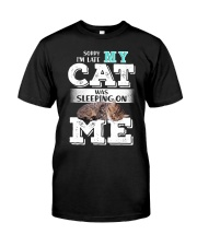 Cat was sleeping on me Classic T-Shirt tile