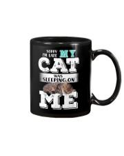 Cat was sleeping on me Mug thumbnail