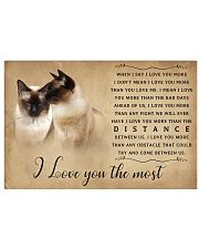 Siamese Cat I Love You The Most Poster 1501 17x11 Poster front