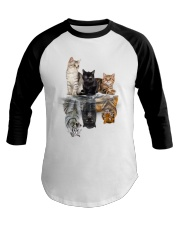 Cat Believe In Yourself Baseball Tee front