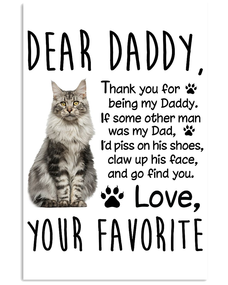 Maine Coon Dear Daddy 1412 11x17 Poster