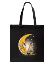 Cat moon skull Tote Bag thumbnail
