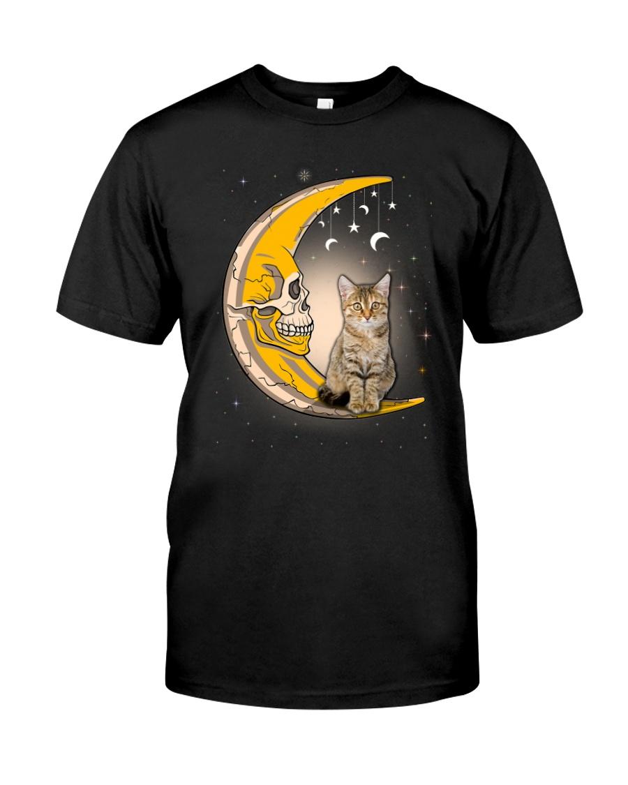 Cat moon skull Classic T-Shirt