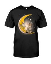 Cat moon skull Classic T-Shirt front