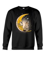 Cat moon skull Crewneck Sweatshirt thumbnail
