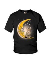 Cat moon skull Youth T-Shirt thumbnail