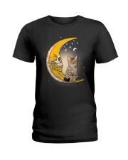 Cat moon skull Ladies T-Shirt thumbnail