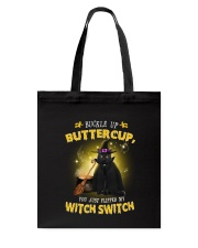 Black cat and witch Tote Bag thumbnail