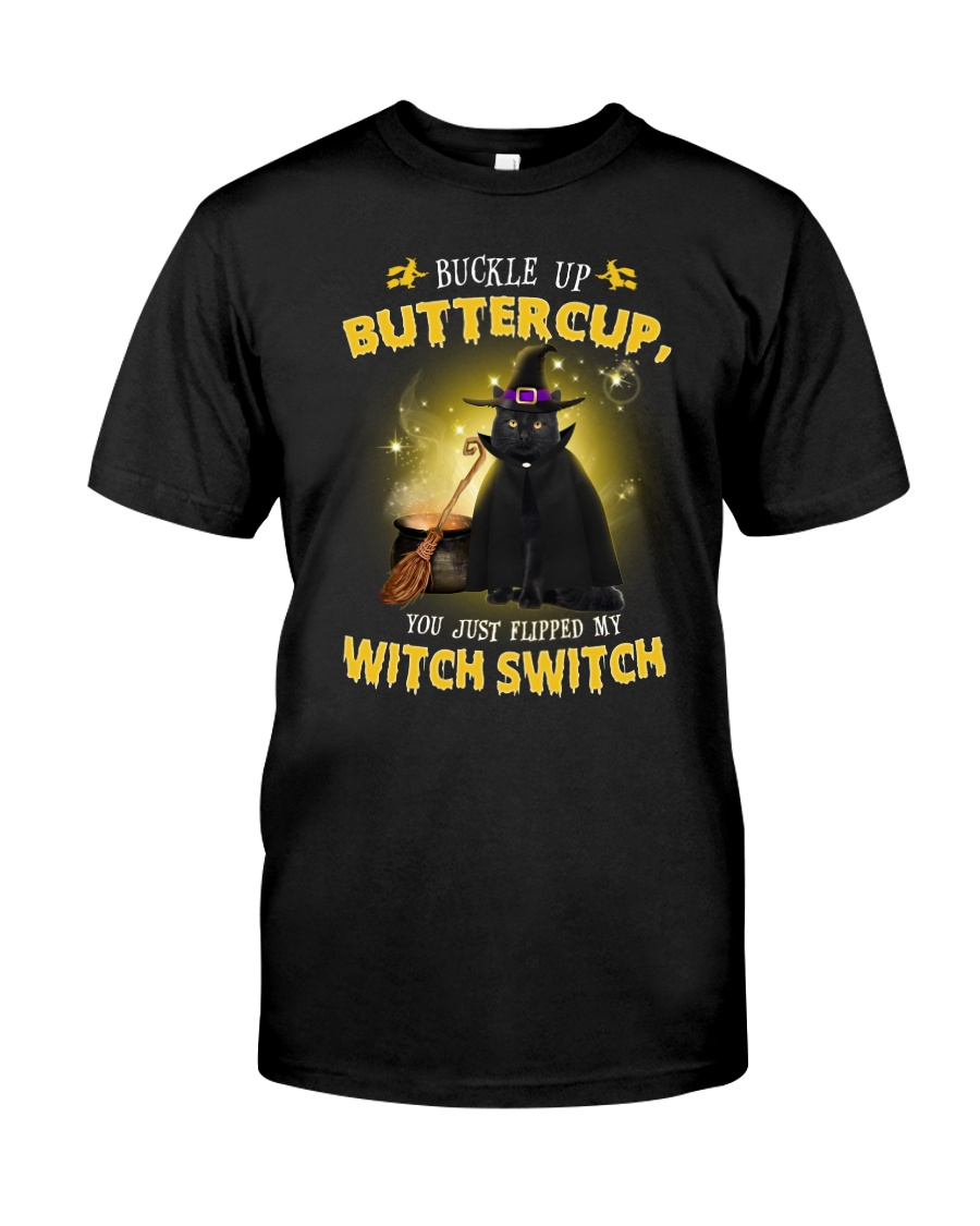 Black cat and witch Classic T-Shirt