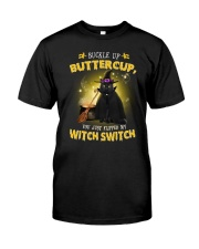 Black cat and witch Classic T-Shirt front