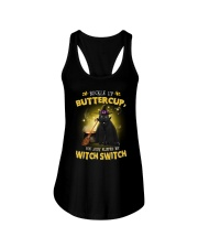 Black cat and witch Ladies Flowy Tank thumbnail