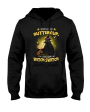 Black cat and witch Hooded Sweatshirt thumbnail
