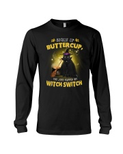 Black cat and witch Long Sleeve Tee thumbnail