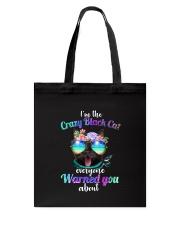 Crazy Black Cat Tote Bag thumbnail