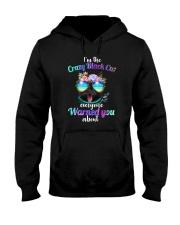 Crazy Black Cat Hooded Sweatshirt thumbnail