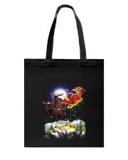 Black cats and Santa Tote Bag thumbnail