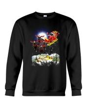 Black cats and Santa Crewneck Sweatshirt front