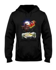 Black cats and Santa Hooded Sweatshirt thumbnail