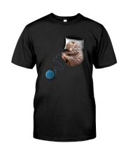 Cat Sleeping Classic T-Shirt front