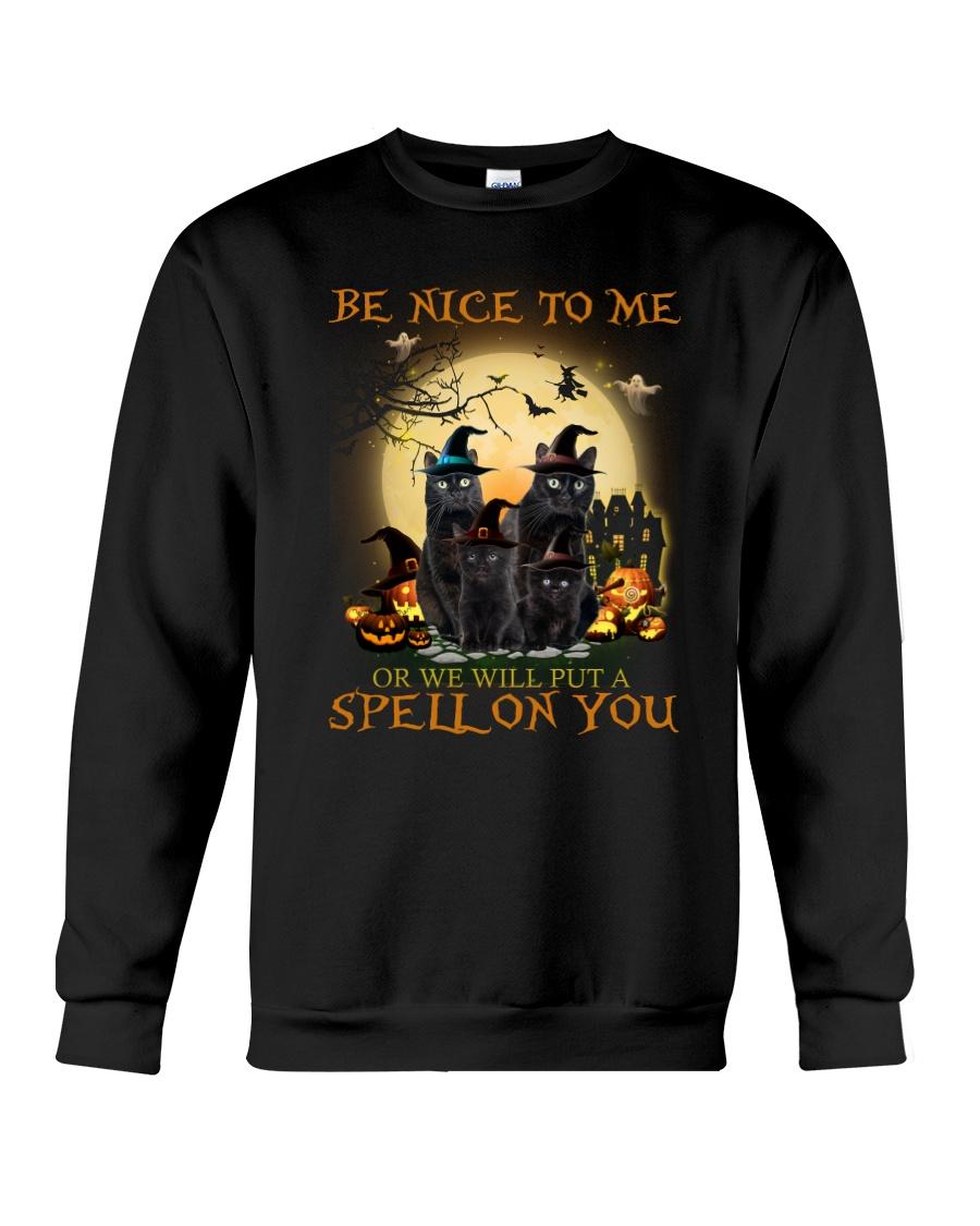 Black Cat Spell On You  Crewneck Sweatshirt
