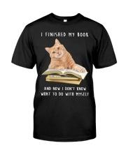 Cat And Book Classic T-Shirt thumbnail