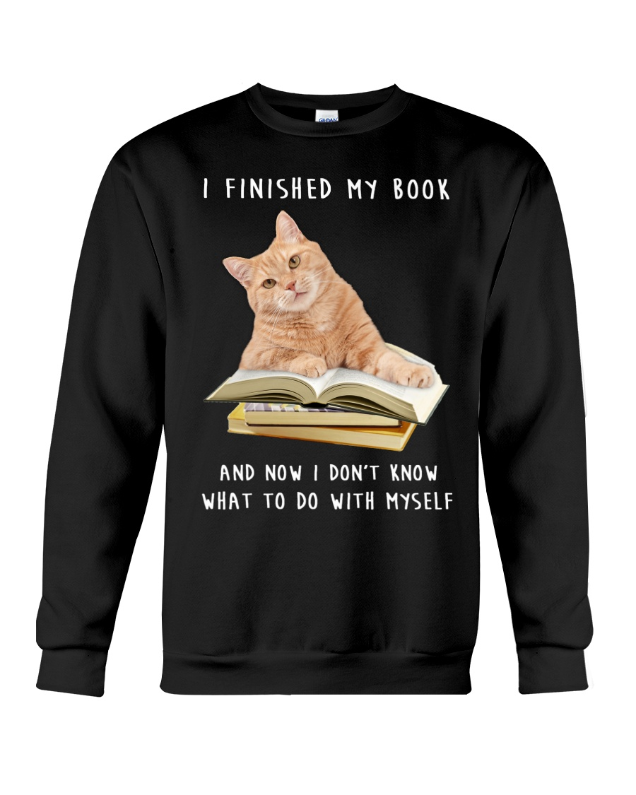 Cat And Book Crewneck Sweatshirt