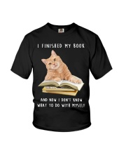 Cat And Book Youth T-Shirt thumbnail