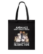 Animals hearing Tote Bag thumbnail