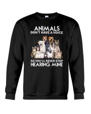 Animals hearing Crewneck Sweatshirt front