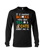 Books Tea Cats Long Sleeve Tee thumbnail
