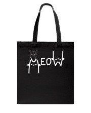 Black Cat Meow  Tote Bag thumbnail