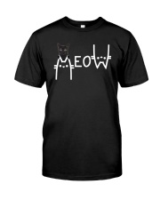 Black Cat Meow  Classic T-Shirt front
