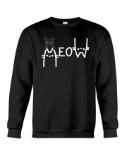 Black Cat Meow  Crewneck Sweatshirt thumbnail